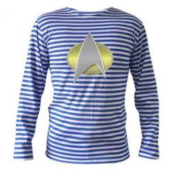 Тельняшка с длинным рукавом Star Trek Gold Logo - FatLine