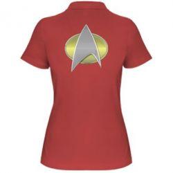 Женская футболка поло Star Trek Gold Logo - FatLine