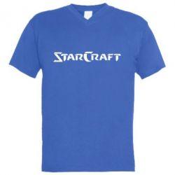 Мужская футболка  с V-образным вырезом StarCraft - FatLine