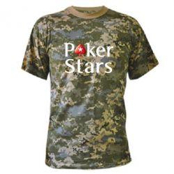 Камуфляжная футболка Stars of Poker - FatLine