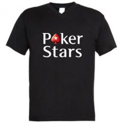 Мужская футболка  с V-образным вырезом Stars of Poker - FatLine