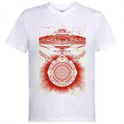Мужская футболка  с V-образным вырезом Startrek graphic