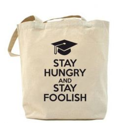 Сумка STAY HUNGRY and STAY FOOLISH