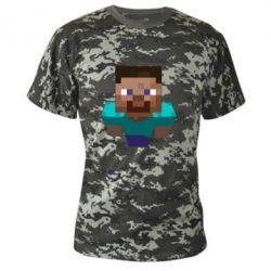 Камуфляжная футболка Steve from Minecraft - FatLine