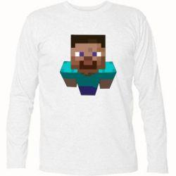 Футболка с длинным рукавом Steve from Minecraft - FatLine