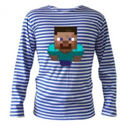 Тельняшка с длинным рукавом Steve from Minecraft - FatLine