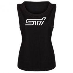 Женская майка STI Logo - FatLine