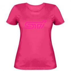 Женская футболка STI Logo - FatLine