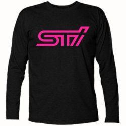 Футболка с длинным рукавом STI Logo - FatLine