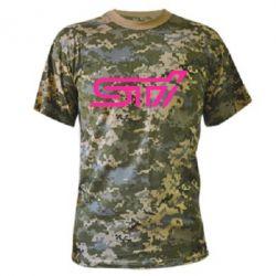 Камуфляжная футболка STI Logo - FatLine