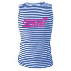 Майка-тельняшка STI Logo - FatLine
