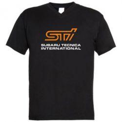 Мужская футболка  с V-образным вырезом STI - FatLine