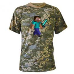 Камуфляжная футболка Стив - FatLine