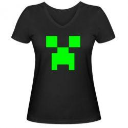 Женская футболка с V-образным вырезом Stive? Face - FatLine