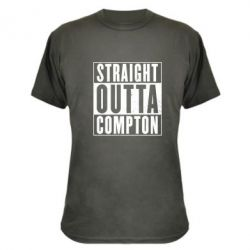 Камуфляжная футболка Straight outta compton - FatLine