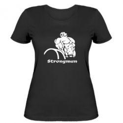Женская футболка Strongman - FatLine
