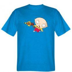 Мужская футболка Стьюи с бластером - FatLine