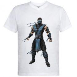 Мужская футболка  с V-образным вырезом Sub-Zero