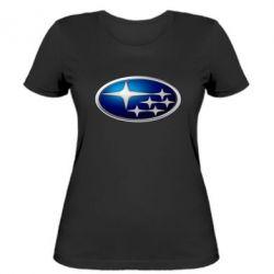 Женская футболка Subaru 3D Logo - FatLine