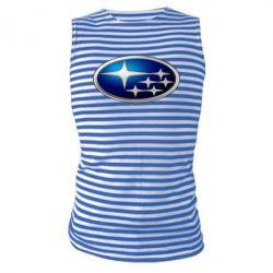 Майка-тельняшка Subaru 3D Logo - FatLine