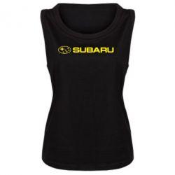 Женская майка Subaru logo - FatLine