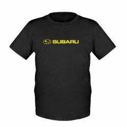 Детская футболка Subaru logo - FatLine