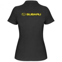 Женская футболка поло Subaru logo - FatLine