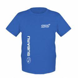 Детская футболка Subaru STI Logo - FatLine
