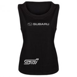 Женская майка Subaru STI лого - FatLine