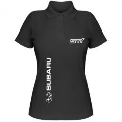 Женская футболка поло Subaru STI Logo - FatLine