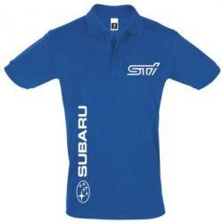 Футболка Поло Subaru STI Logo - FatLine