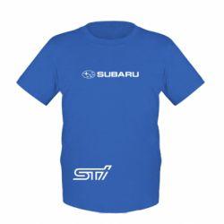 Детская футболка Subaru STI лого - FatLine