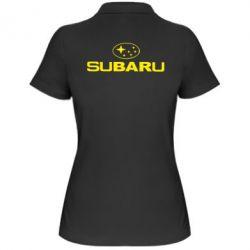 Жіноча футболка поло Subaru - FatLine