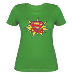 Женская футболка Super Dad - FatLine