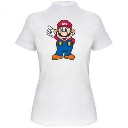Женская футболка поло Супер Марио - FatLine