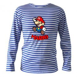 Тельняшка с длинным рукавом Супер Марио