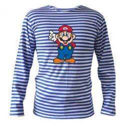 Тельняшка с длинным рукавом Супер Марио - FatLine