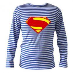 Тельняшка с длинным рукавом Superman Человек из стали - FatLine