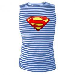 Майка-тельняшка Superman Logo - FatLine