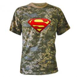Камуфляжная футболка Superman Logo - FatLine