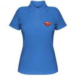 Женская футболка поло Superman Logo - FatLine