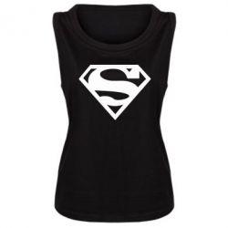 Женская майка Superman одноцветный - FatLine