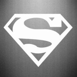 Наклейка Superman одноцветный - FatLine
