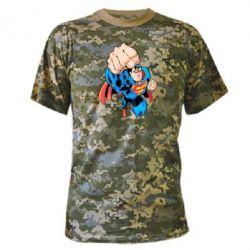 Камуфляжная футболка Супермен Комикс - FatLine