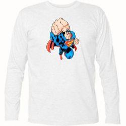 Футболка с длинным рукавом Супермен Комикс - FatLine
