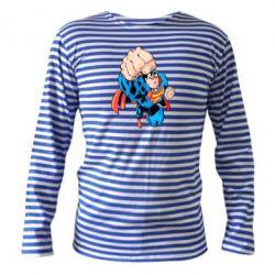 Тельняшка с длинным рукавом Супермен Комикс - FatLine