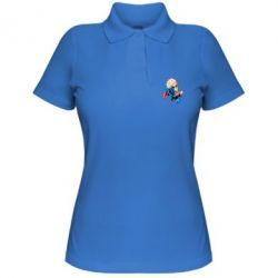 Женская футболка поло Супермен Комикс - FatLine