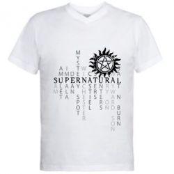 Мужская футболка  с V-образным вырезом Supernatural Art
