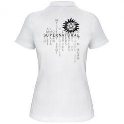 Женская футболка поло Supernatural Art
