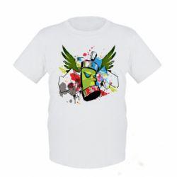 Детская футболка Суровый баллончик)